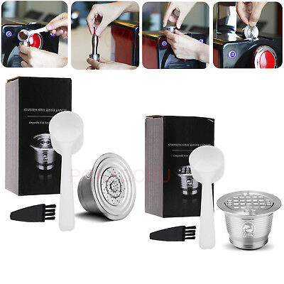 1× Stainless Steel Refillable Reusable Coffee Capsule Pod For Nespresso Machine