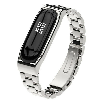 Luxury Stainless Steel Watch Band Strap Bracelet+Metal Case For Xiaomi mi Band 3