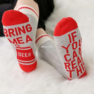 """Frauen Männer Komfort Casual Socken """"If you can read this,bring me a beer"""""""