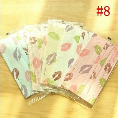 10X Lovely Candy Color Non-woven Disposable Dust Ear Loop Medical Flu Mouth Mask