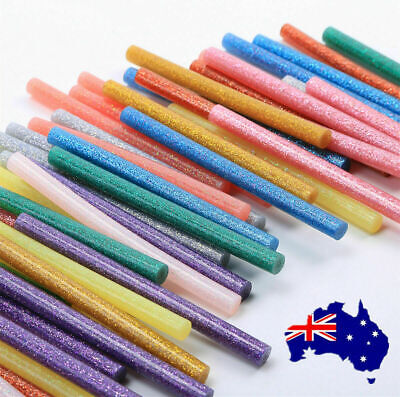 50X GLITTER Hot Melt Glue Adhesive Sticks Glue Gun Craft Tool Heat 7mm*100mm