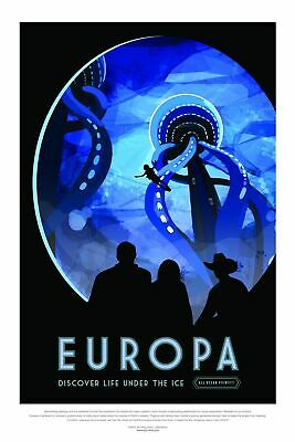 Europa NASA, Tourism Space Travel Poster Art Print Picture A3 A4