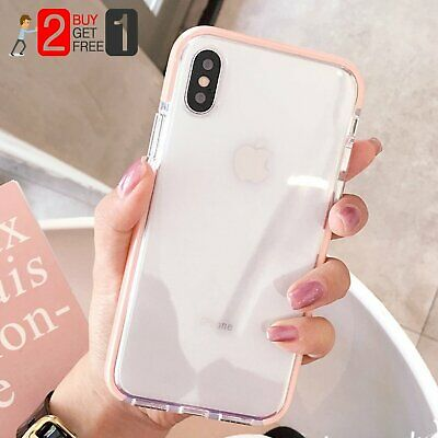 Girl Pink Clear Soft Silicone Shockproof Case Cover For iPhone X 7 8 Plus XS Max