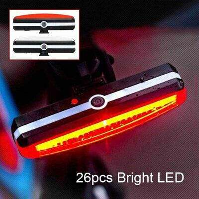 USB Rechargeable LED MTB Bike Bicycle Cycling Front Light Rear Lamp Taillight UK