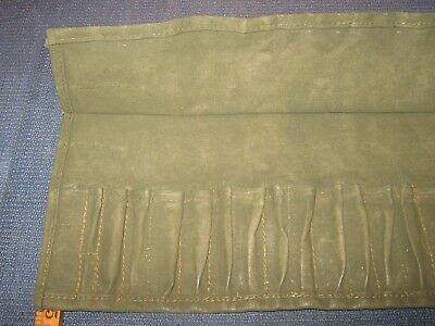 Washed Altered Vintage Ex Wd /| Canvas Tool Roll Fits Bsa & Triumph Motorcycle