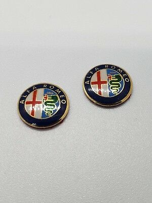 2x Alfa Romeo 11mm Key Fob Sticker Badge Emblem Logo 159 MiTo GT