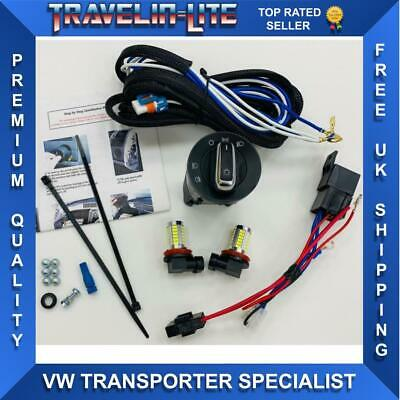 VW T5.1 Transporter Fog Light Harness Switch & Led Bulbs 10-15 Great Quality