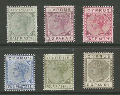 CYPRUS SG16-21 THE 1882-6 QV SET TO 6pi MOUNTED MINT CAT £800
