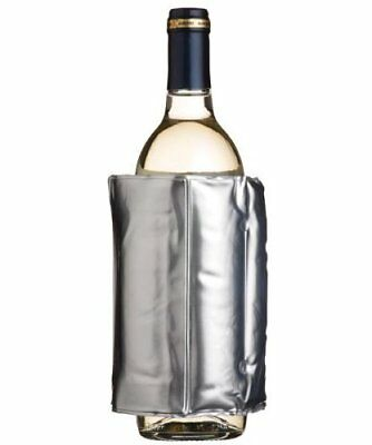BarCraft Adjustable Wine or Champagne Bottle and Drink Carton Cooler SILVER  New