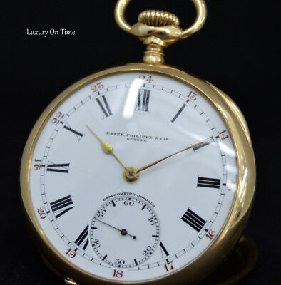 "Patek Philippe&Cie ""Gondolo"" Pocket Watch 48Mm 3 Covers 18K Y.gold Open Face."