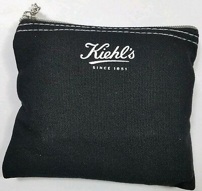 Kiehl's Grooming Kit Black Travel Pouch Delta Air Lines Gift Bag Toiletries