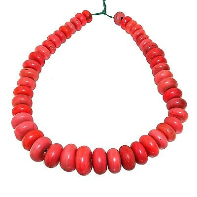 (2369) Antique glass necklace from Nepal