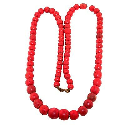 (2368) Antique glass necklace .Nepal