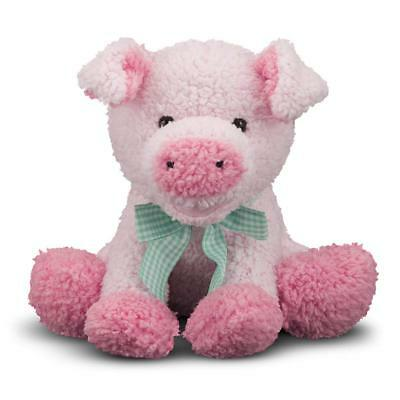 NEW Melissa & Doug Meadow Medley PIG Piggy Stuffed Animal & Oinking Sound Effect