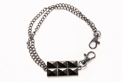Great Cool Punk Style Unisex Grey Double Chain Pocket Chain with Studs (T277)