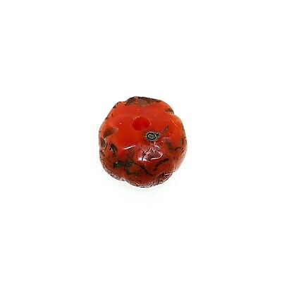 (2364) Buddhist Nan Hong  Pema Raka Bead, China-Tibet. Melon shaped
