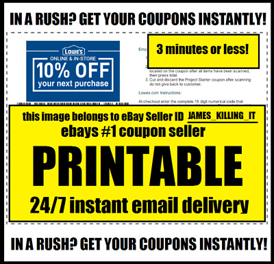 5x Five Lowes 10%OffCoupons - Expires 12-31-18 Fastest Delivery