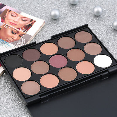 15 Color Professional Cosmetic Eye Shadow Pigments Makeup Palette Matte U#