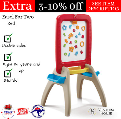 Kids Red Double Sided Easel Step2 All Around Easel For Two Chalk/Whiteboard NEW