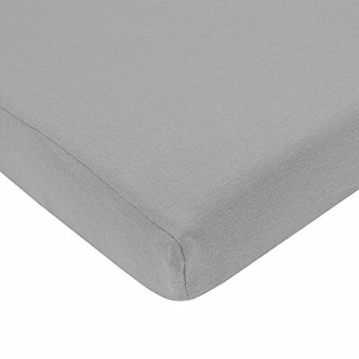 2 x 100 % Cotton Soft Cot Bed Fitted Sheets 140 x 70 cm - Silver/Grey
