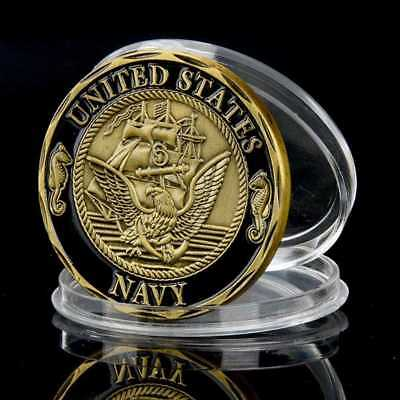 New NAVY CROSSING SHELLBACK NEPTUNE THE LINE CHALLENGE COIN 40mm