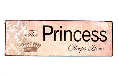 Baby Girl Wall Plaque The Princess Sleeps Here Gift Bedroom Door