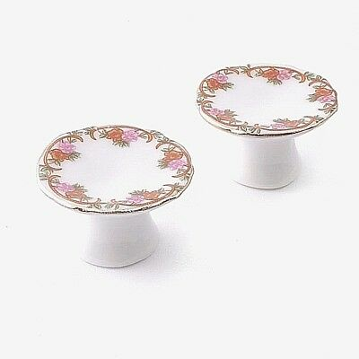 Dolls House Miniature : Set of 2 Cake Stands :  12th scale