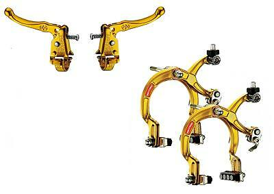 DIA COMPE OLD SCHOOL BMX TECH 3 MX121 LEVERS With MX1000 Brakes GOLD F/R