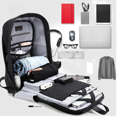 Business Laptop Anti Theft Computer Bag Waterproof Men's College School Backpack
