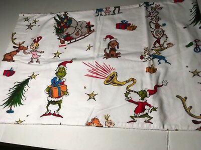 IGC Pottery Barn Kids Dr Seusss THE GRINCH Flannel Twin Sheet Set