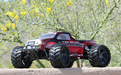 REDCAT Volcano-18 V2 1/18 Scale RC Brushed 4WD Electric Monster Truck - RED