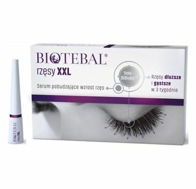 BIOTEBAL EYELASHES XXL The best 4 Long Lashes  SERUM 3ml - activ lash rzęsy