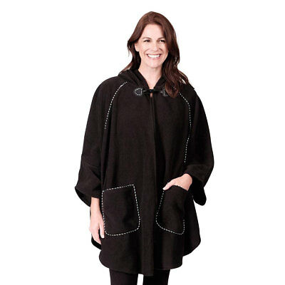 Le Moda Ladies Fleece Hooded Wrap Winter Collection One Size Fits All