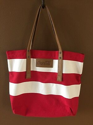 Coca Cola Coke Stripe Red White Cotton Tote Bag