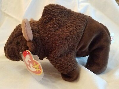 Very Rare - Ty Beanie Babies Roam The Buffalo - Retired 1998 With Error