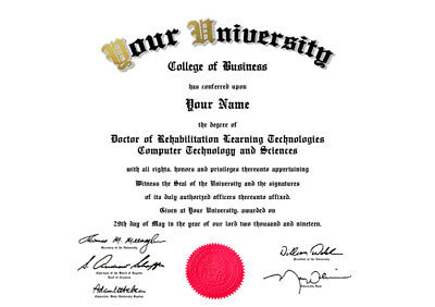 High Quality Gift Personalised Fake Certificates Diplomas Degrees Transcripts