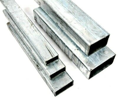 GALVANISED Steel RECTANGULAR Box Section 5 Sizes & 4 Lengths Available
