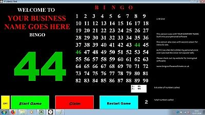 Bingo Software - Bingo Calling SOFTWARE / EMULATING Machine,Personalized for You