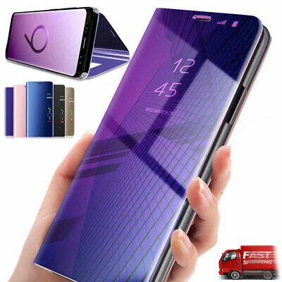 Flip Clear View Mirror Cover Stand Case for Samsung Galaxy S9 S8 Plus Note 9 8