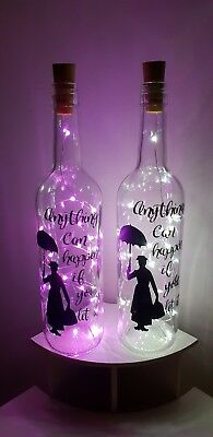 Mary Poppins Light Up Bottle Anything Can Happen Gift Christmas, Gift Boxed