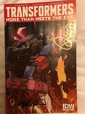 Autographed Transformers IDW More Than Meets The Eye #48