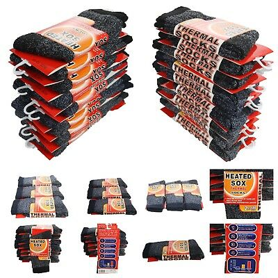 1 3 Pairs Men's Thermal Socks Winter Sport Ski Warm Heated Thick Insulated 10-13