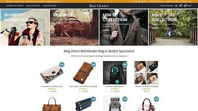 website for sale BAGGIANT.com - domain and all its content - ecommerce