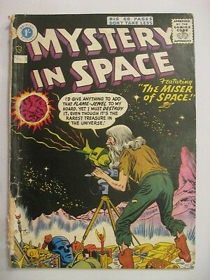 UK  SILVER AGE MYSTERY in SPACE #3 DC comics 1950s  Strato publications Good +