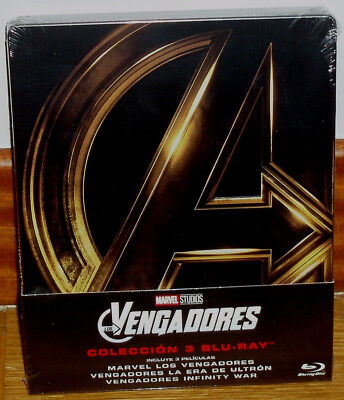 The Avengers Trilogy 3 Blu-Ray Sealed Steelbook New (Unopened) R2