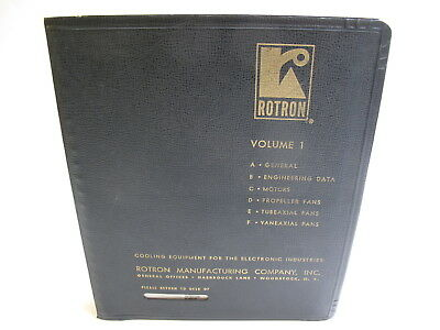 ROTRON MANUFACTURING COOLING EQUIPMENT VOLUMES 1 & 2 FAN CATALOG VINTAGE 1960's