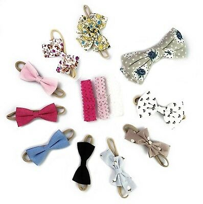 Baby Wisp® 13 pc Hair Bow Headbands - Accessory for Newborn Infant Toddler Girl