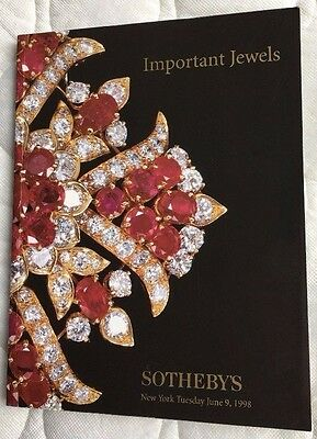 RARE Sotheby's Important Jewels Tuesday June 9, 1998