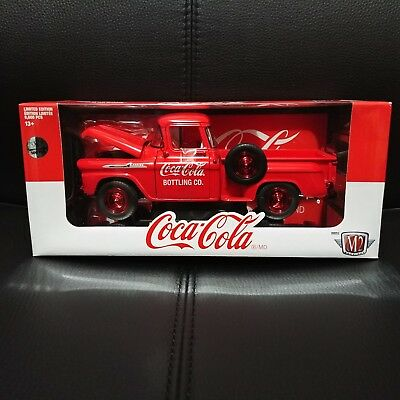 1/24 M2 Chase Coca Cola 1958 Chevrolet Apache Stepside Pickup Truck 1 Of 500!