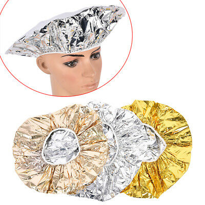 Hat Mask Cap Shower Caps One-off Bathing Elastic Aluminum Foil Hair Protector—HQ
